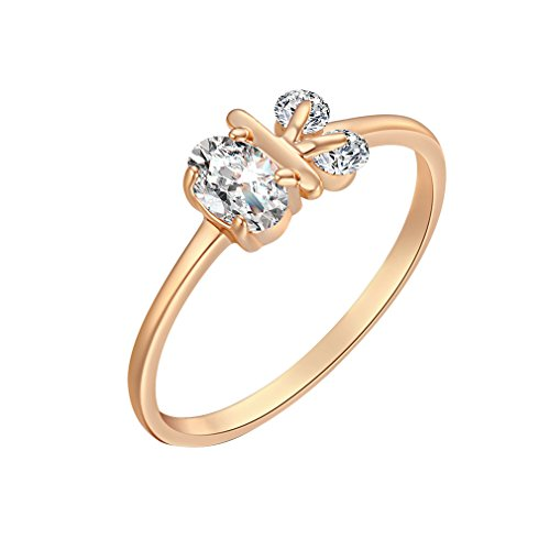 29b3cd6c0e44fd YAZILIND Girl Choice 18K Golden Plated Ring With Rabbit Head Crystal Shape  New Favorie Size 9