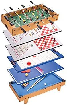huangguan mh88833 – 8 en 1 Multi Game Mesa con 82 cm de Longitud Total, Negro: Amazon.es: Juguetes y juegos