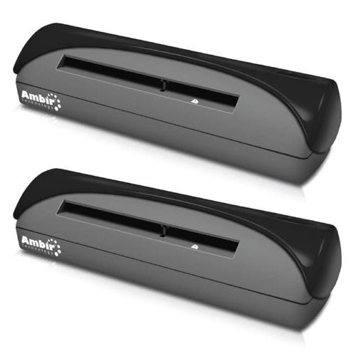 Ambir 2 Pack PS667-AS Simplex A6 ID Card Scanner with Scan, 7Sec per Single-Sided (Black&White), 600dpi, 4x6 Scan Area, USB2.0 by Ambir