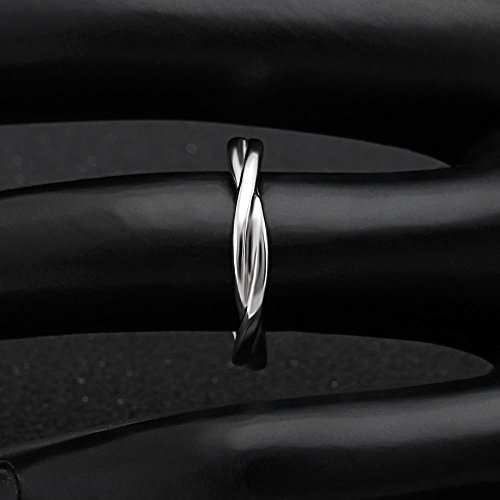 Ginger Lyne Collection Aurora Infinity Twisted Sterling Silver Anniversary Wedding Band Ring by Ginger Lyne Collection (Image #4)
