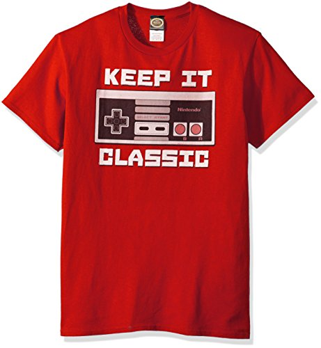 Nintendo Men's Keep It Classic T-Shirt, Red, 3XL