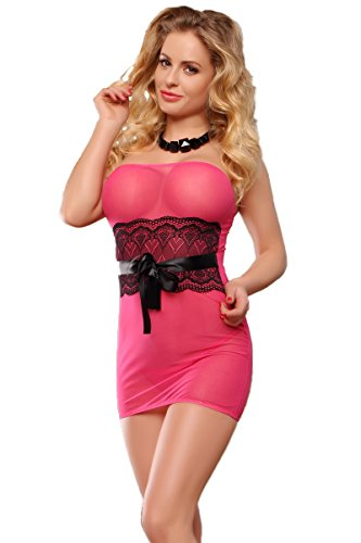 black lace over pink dress - 9
