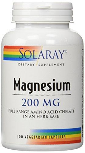 Solaray Magnesium -- 200 mg - 100 Vegetarian Capsules