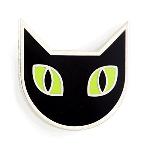 These Are Things Black Cat Enamel Pin ()