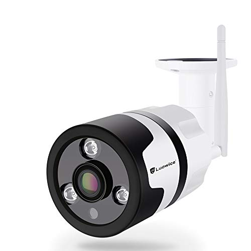 Luowice WiFi Security Camera Outdoor Wireless IP Camera 1080P 180 Degree Fisheye Panoramic Surveillance Video CCTV Camera Night Vision 100ft Waterproof