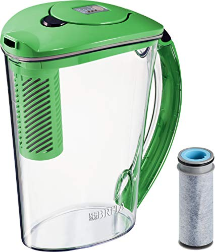 Brita 36322 Stream Filter-As-You-Pour Rapids Water Pitcher, 10 cup, Island Green