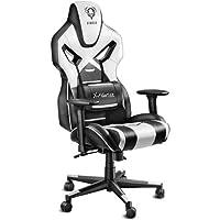 Diablo X-Fighter Gaming Chaise accoudoirs réglables 3D Coussin Lombaire mécanisme d'inclinaison Cuir Artificiel perforé sélecteur de Couleur