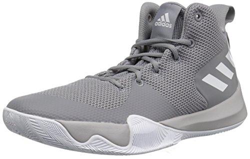 Adidas Originals Explosivo Zapato De Los Hombres De Baloncesto De Destello, Tres De Tela Gris, Blanco Ftwr, Dos De Tela Gris, 13,5 M Con Nosotros