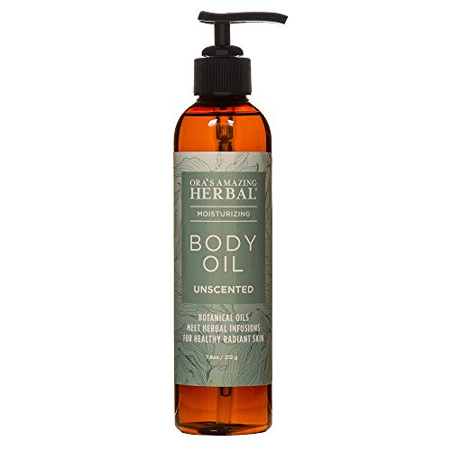 Natural Unscented Body Oil for All Skin Types, Sensitive Dry Skin, Eczema, Psoriasis, Light Moisturizer For Women And Men Pure Vegan Skincare Botanicals with Jojoba, Apricot, Ora's Amazing Herbal