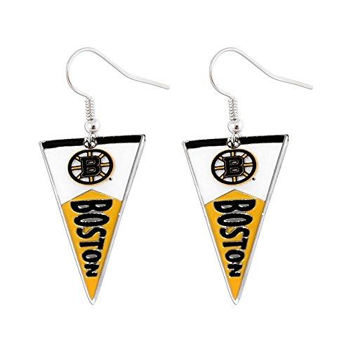 Aminco Boston Bruins NHL Pennant Earring