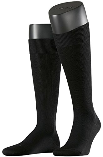Falke Mens Energizing Wool Knee High Socks - Black - Large