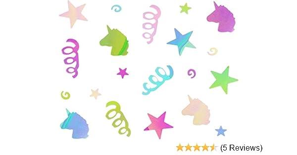 Free Ship Retail Pack #9051 Confetti Unicorn Pink Silver