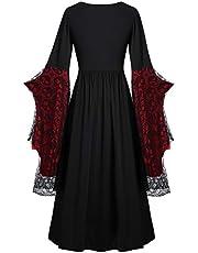 Briskorry Middeleeuwse gothic jurk dames oversized vlindermouwen avondjurken heks sexy partyjurk jaren 50 cocktailjurk gebonden taille verbandjurk kanten jurken