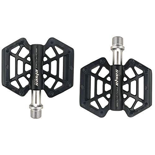 HYHD Bicycle Pedals, 1 Pair Aluminum Alloy Anti Skid Durable Bike Pedals Sealed Bearings, Innovative Non-Slip Bike/City-Bike Pedals