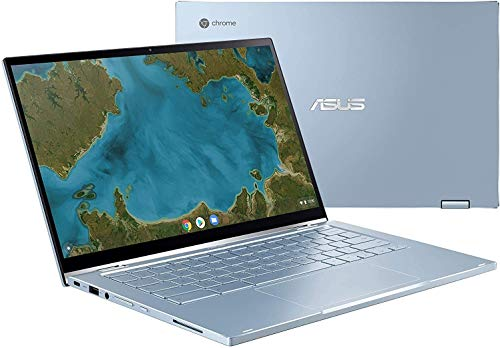 "ASUS 14"" FHD (1920 x 1080) LED-Backlit Touchscreen 2-in-1 Chromebook, Intel Core M3-8100Y, 4GB Memory, 64GB eMMC, Webcam, Bluetooth, Wireless-AC, Backlit Keyboard, Chrome OS, 64GB ABYS Micro SD Card"