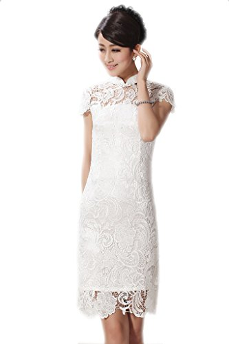 jtc-women-cheongsam-style-lace-chinese-dress-cup-sleeve-3colors-lbust-35-36-white