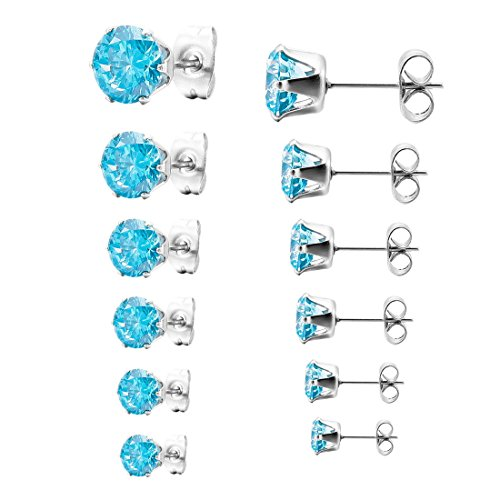 INBLUE Stainless Earrings Colorful Multicolor