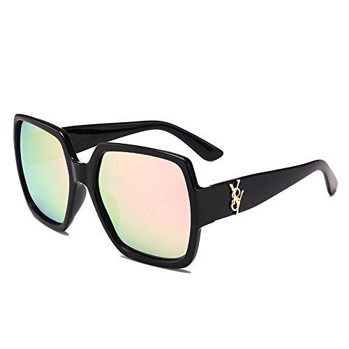 E Viaje Playa Caja De De Gafas Personalidad Retro Polarizada Luz D Square Sol Moda Gafas De Espejo Conducción Sol Mujeres Grande Exterior 1ZxawqAw