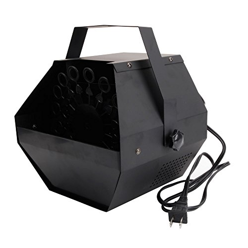 HomVent 25W Automatic Mini Bubble Maker Machine Auto Blower for Wedding/Bar/Party/ Stage Show Black