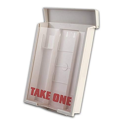 White Snap Shut Brochure Box Brochure Holder Flyer Box Outdoor Realtor Style Info Box Realtor Supplies Real Estate Marketing