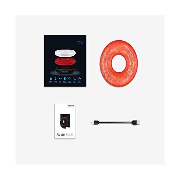 Haut-Parleur Bluetooth Portable Voyage extérieur étanche sans filHaut-Parleur Bluetooth stéréo Real Sound Rouge 175mmx175mmx37mm 3