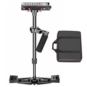 """Neewer S100 10072298 - Estabilizador de mano 27""""/68cm, fibra de carbono de aleación con 1/4"""" placa de liberación rápida para videocámara DV y cámara DSLR hasta 4 kg"""