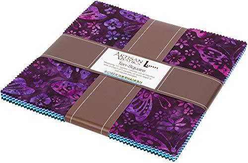 (Lunn Studios Artisan Batiks Butterfly Blooms Ten Square 42 10-inch Squares Robert Kaufman TEN-717-42)