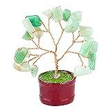 Feng Shui Gemstone Tree of Happiness with Green Jade Gemstones-29187.