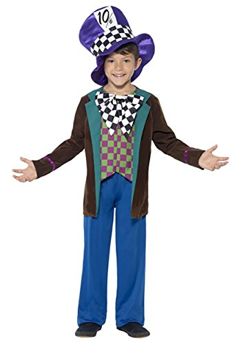 [Children's Deluxe Mad Hatter Tea Party Costume] (Deluxe Mad Hatter Costume Uk)