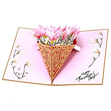 Tarjeta de felicitación 3D desplegable, tarjeta de regalo de ...