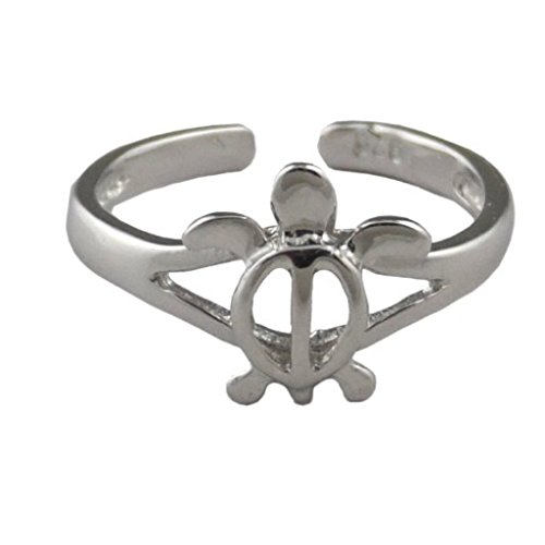 Hawaiian Jewelry Sterling Silver Honu Turtle Toe Ring