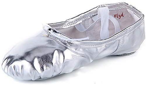 女の子バレエシューズキッズフラットダンススリッパレディースレザースプリットソールバレリーナパンプス子供用と大人用のサイズ