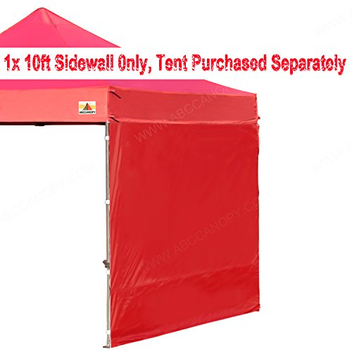 ABCCANOPY 15+colors 10′ Sun Wall for 10'x 10′ straight leg pop up canopy Tent, 10′ Sidewall kit (1 Panel) with Truss Straps, (burgundy)