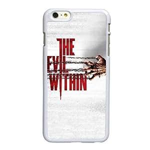 Funda iPhone 6 6S caso del teléfono celular de 4.7 pulgadas funda el mal blanco que aparecen en E1M8SP