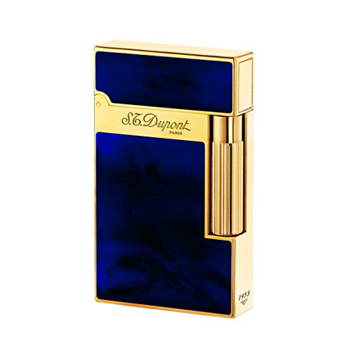 Dupont Black Chinese Lacquer - S.T. Dupont Ligne 2 Lighter Atelier, Chinese lacquer, Gold trim, Blue, 16134