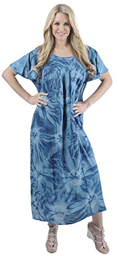 Women's Tie Dye Swimwear Beach Dress Tie Dye R Blue Mono Tie Dye US: 14 - - R Shades Sol
