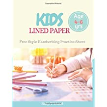 Kids Lined Paper: Freestyle Handwriting Practice for Preschooler, Kids Age 4-6 years