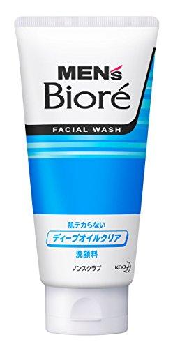 BIORE MENS Kao Deep Oil Clear Face Wash, 130 Gram