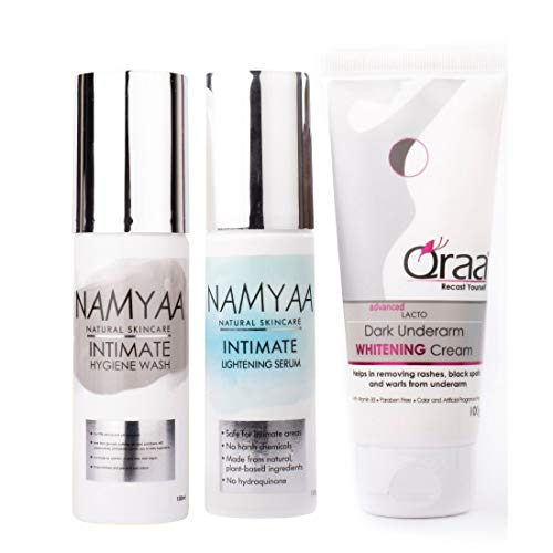 Namyaa Complete Intimate Care Set (Lightening Intimate Serum, 100 g with Intimate Wash, 100 g and Advanced Lacto Underarm Cream, 100 g)