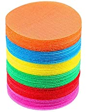 """Carpet Markers, Womdee The Original Carpet Markers Sitting Spots by Bright Spot for Teachers 4.33"""" Floor Circles (36 Pack) Great for Classrooms, Teaching, Games, Learning"""
