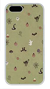 iPhone 5 5S Case Cute Halloween Pattern184 PC Custom iPhone 5 5S Case Cover White
