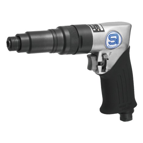 Pistol Grip Pneumatic Screwdriver - SHINANO SI-1166A 6MM CAPACITY REVERSIBLE PISTOL GRIP PNEUMATIC (AIR) SCREWDRIVER 1800RPM ADJUSTABLE CLUTCH