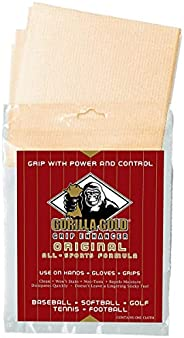 Authentic Sports Shop Gold Gorilla Non-Toxic Natural Grip Enhancer for Sweaty Wet Hands, Gloves, Bats, Clubs,