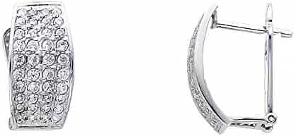 69c19fa3109 Shopping Cubic Zirconia - White Gold - ZenJewels - Hearts - Earrings ...