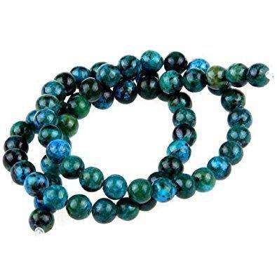 Beads - TOOGOO(R)Gemstone Chrysocolla stone round 6mm beads