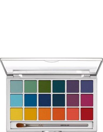 Amazon.com : Kryolan Eye Shadow Variety 18 Colors 5318 V2 Bright Makeup Palette : Beauty