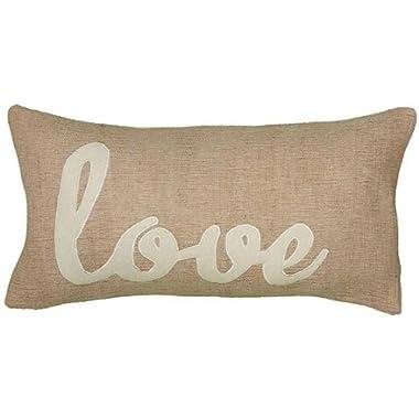 Love Pillow, 11 Hx21 Wx3 D, BEIGE IVORY