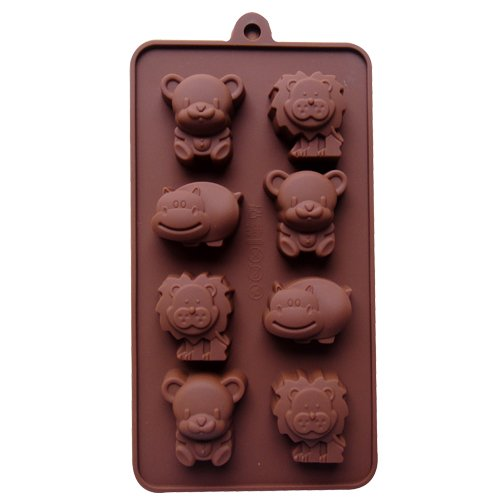 Easygoby 8 Cavity Non-Stick Lovely animal Silicone Gel Cake Mold Chocolate Craft Candy Soap Ice cube tray Bakeware DIY mold
