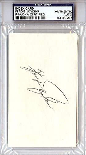 Fergie Jenkins Authentic Autographed Signed 3x5 Index Card #83340297 PSA/DNA Certified MLB Cut Signatures
