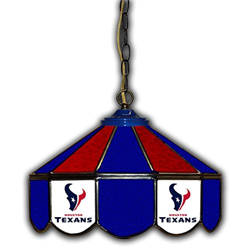 Houston Texans 14-In. Stained Glass Pub Light